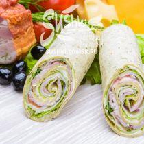 Сендвич-ролл с беконом