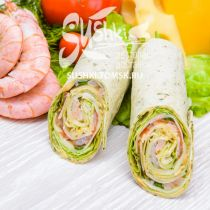 Сендвич-ролл с креветкой