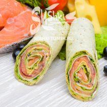 Сендвич-ролл с лососем